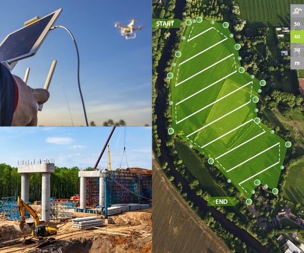 Drone surveys and 3D laser scanning