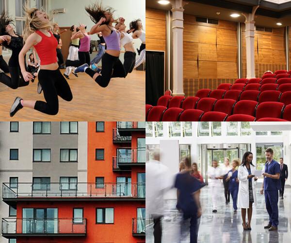 Noise reverberation in buildings